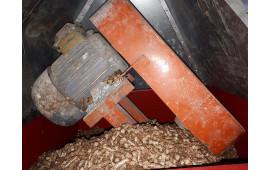 Загрузка типлива в бункер котла