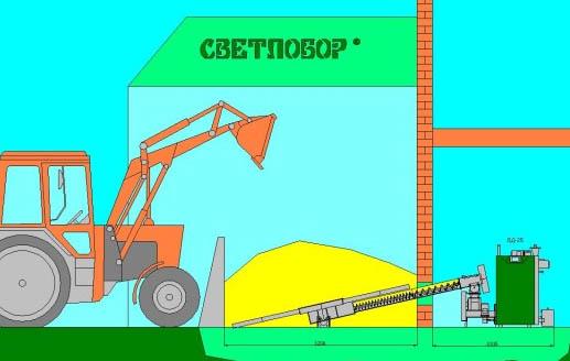 Светлобор Котел пеллетный на щепе