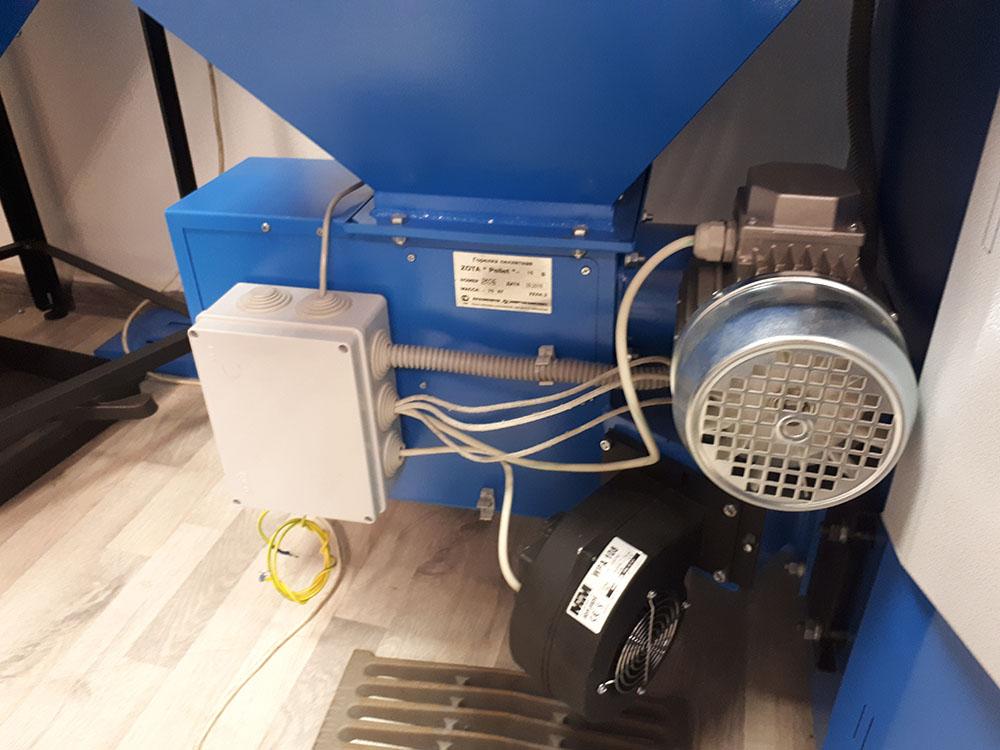 Подача топлива в котлах Zota Pellet S